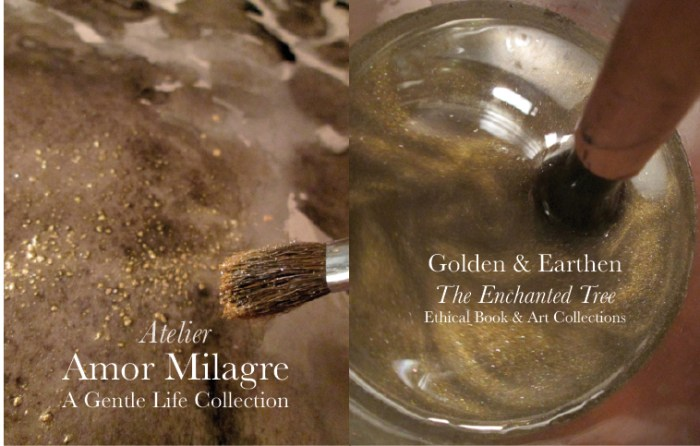 Amor Milagre Shop Golden Origin Tree Ancient Atelier Brush Water Swirls Golden & Earthen The Enchanted Tree New Children's Book & Art & Stationery Collection Autumn 2019 amormilagre.com