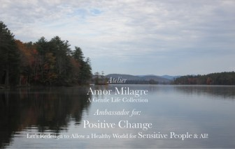 Amor Milagre Ambassador for Positive Change, Let's Redesign to Allow a Healthy World for Sensitive People & All, lake mountain Ethical Handmade Gift Shop amormilagre.com