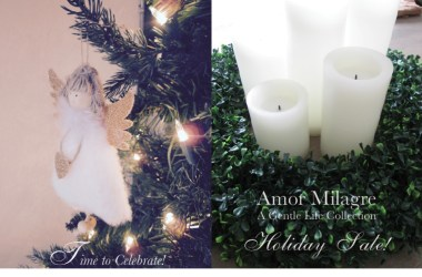 Amor Milagre Holiday December Sale! Ethical Organic Gift Shop Baby & Child organic apparel stationery children's books artwork amormilagre.com angel ornament tree candles boxwood wreath
