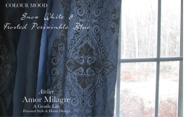 Amor Milagre Snow White & Frosted Periwinkle Blue Colour Mood Fashion Personal Style Ethical Gift Shop Art Apparel Organic Baby & Child home interior design master bedroom curtains amormilagre.com