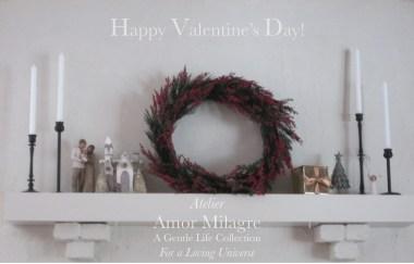 Amor Milagre I Love! Sweet Charity Valentine's Day Sale Atelier Art Books Ethical Gift Shop living room fireplace mantle decor white interior design amormilagre.com