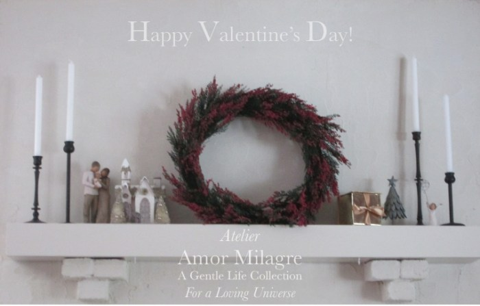 Amor Milagre I Love! Sweet Charity Valentine's Day Sale Atelier Art Books Ethical Gift Shop living room fireplace mantle decor white interior design amormilagre.com