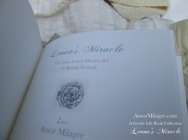 Amor Milagre Leona's Miracle 1st Spring Festival The Love Letter Diaries #4 ethical book series amormilagre.com 9