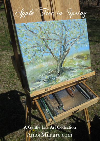 Amor Milagre Presents Apple Tree in Spring Oil Painting, Art Prints, Greeting Cards amormilagre.com 1