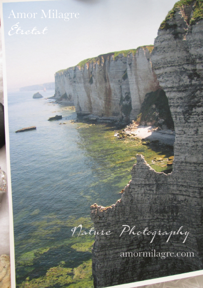 Étretat France Magical Ocean Beach Cliffs Photography Art Print Amor Milagre amormilagre.com