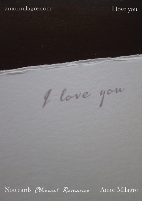 Amor Milagre Ethereal Romance Deckled Edge Notecards Pink Cream Stationery I Love You amormilagre.com