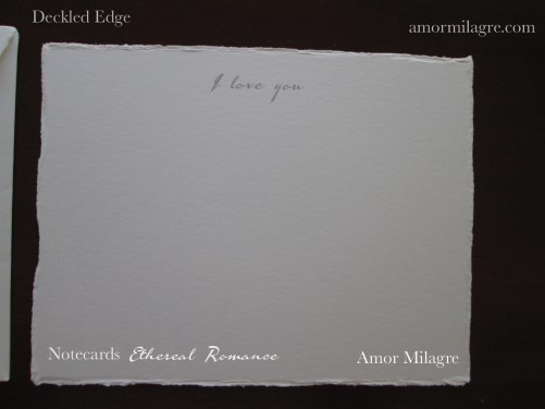 Amor Milagre Ethereal Romance Deckled Edge Notecards Pink Cream Stationery I love you greeting card amormilagre.com