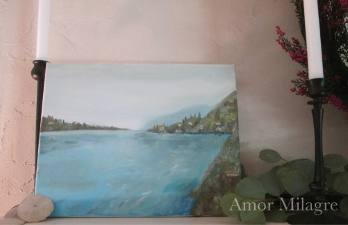 Amor Milagre Leona's Home Amalfi Coast Italy Ocean Oil Painting amormilagre.com 1