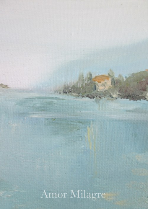 Amor Milagre Leona's Home Amalfi Coast Italy Ocean Oil Painting amormilagre.com 2