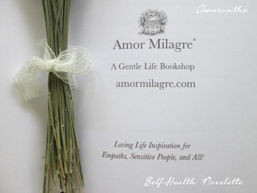 Amaranthe Novel by Amor Milagre Self-Health Book Lavender French NYC 10 amormilagre.com