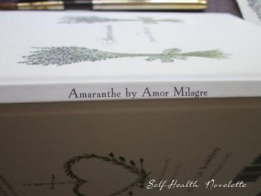 Amaranthe Novel by Amor Milagre Self-Health Book Lavender French NYC 13 amormilagre.com