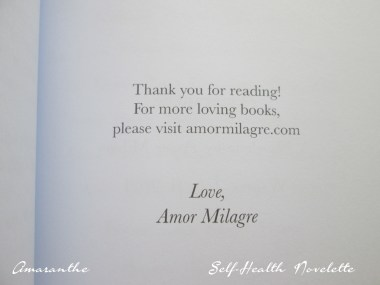 Amaranthe Novel by Amor Milagre Self-Health Book Lavender French NYC 7 amormilagre.com