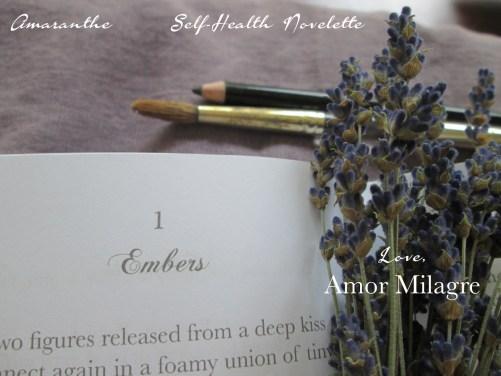 Amaranthe Novel by Amor Milagre Self-Health Book Lavender French NYC 9 amormilagre.com