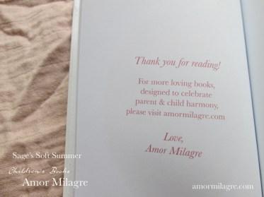 Amor Milagre Sage's Soft Summer children's book amormilagre.com 3