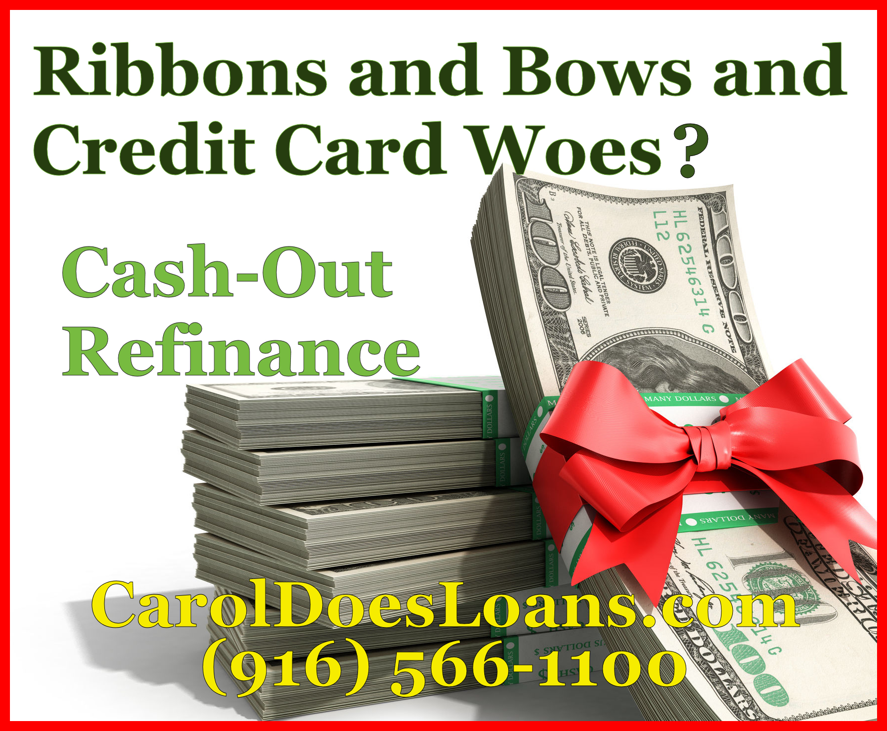 Too Many Credit Card Bills? Cash Out Refince