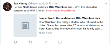(115) News about otto warmbier on Twitter.clipular