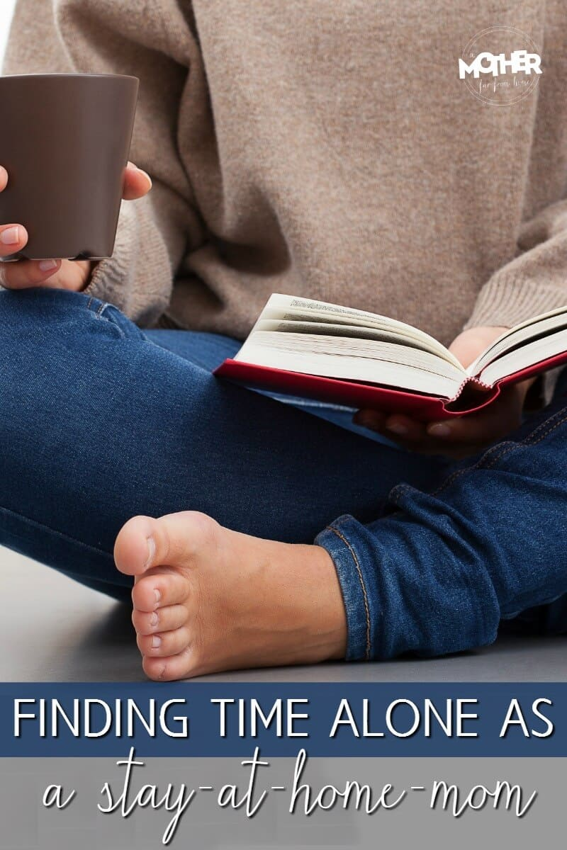 mom finding alone time for herself