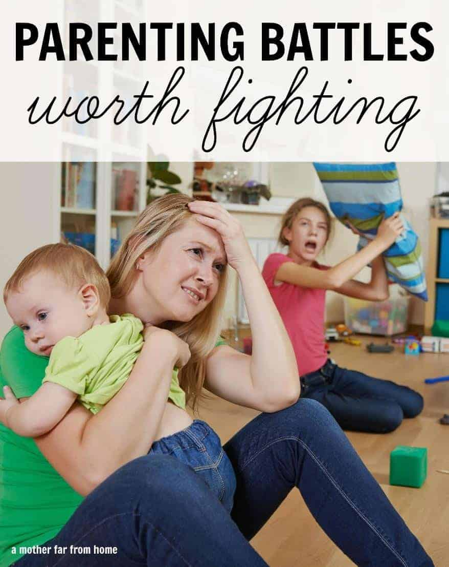 There are some parenting battles worth fighting. Great read for weary moms who want to know how to prioritize their energy