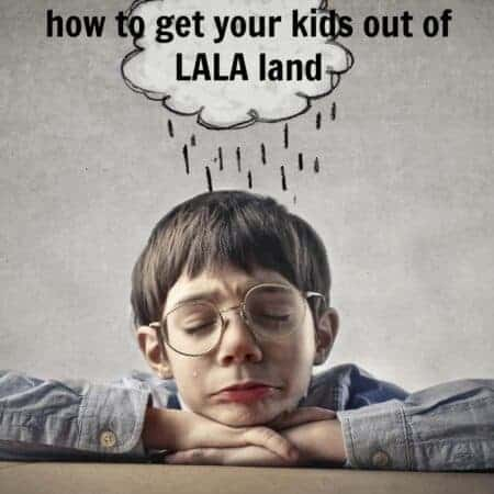 Living in reality, not lala land