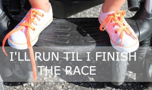 run until i've finished the race