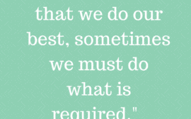 do what is required