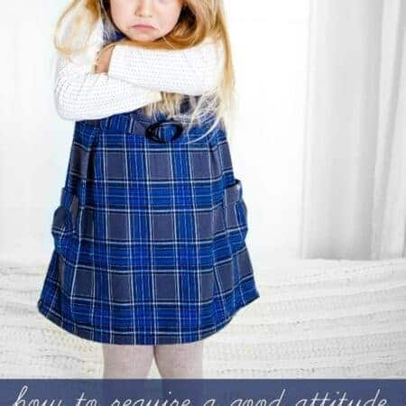 Can I require a good attitude without stifling my children's emotions?