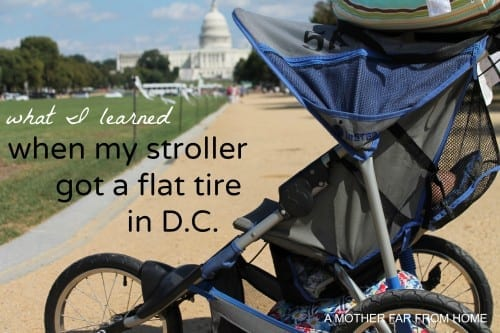 stroller got flat tire