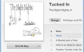 The Night Nights Tucked In. An album of lullabies for your little ones from a Christian mother and beautiful artist