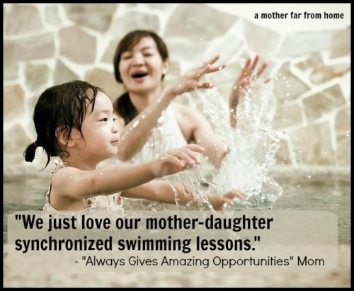 synchronized swimming mom