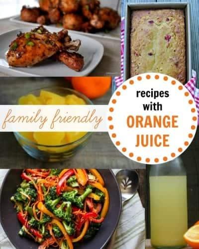 5 family friendly recipes with orange juice