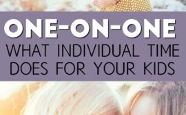 Want to make sure you're spending enough one on one time with your kids? Here's how you can be sure each child gets individual time with you.