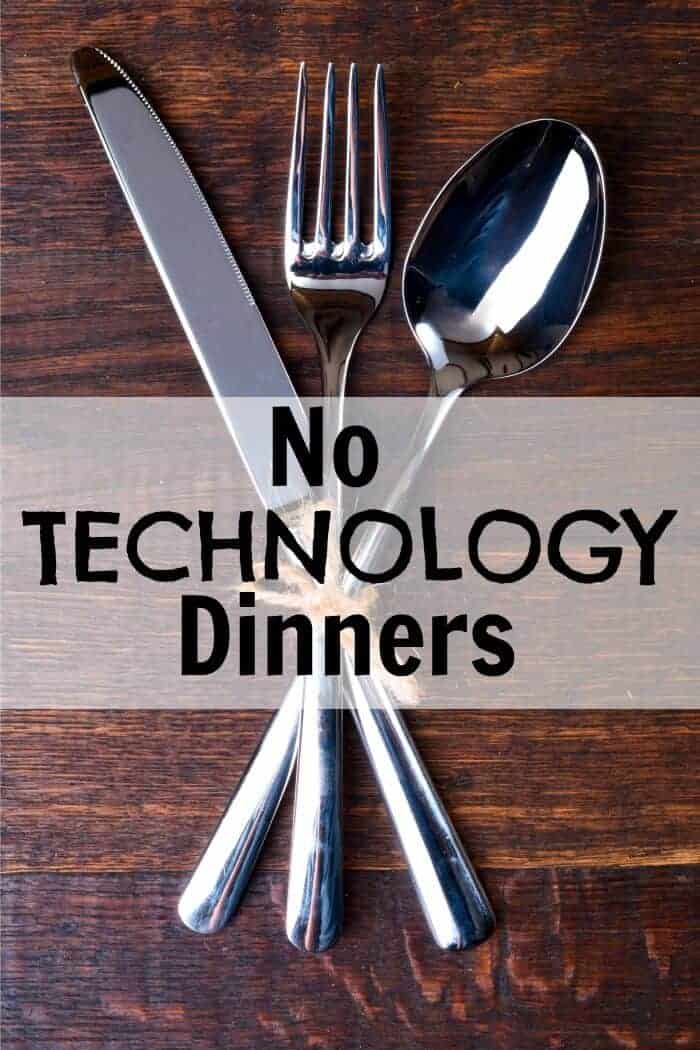 no technology dinners