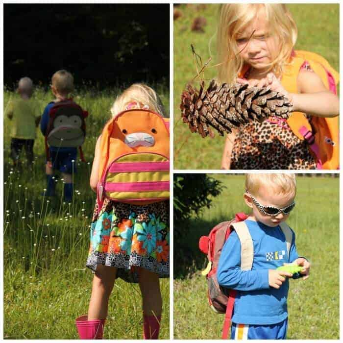 nature day - summer camp theme ideas with little kids walking in nature