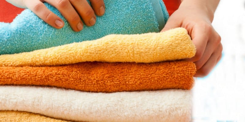 folded towels chores for toddlers and preschoolers
