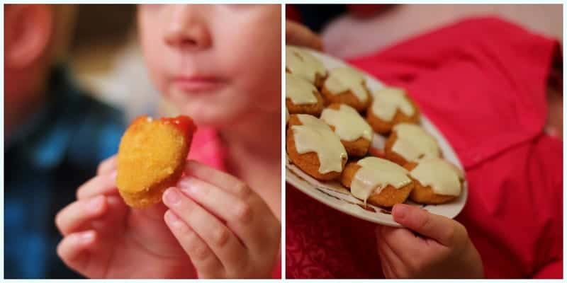 kids eating chicken nuggets