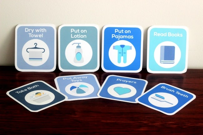 2 year old routine cards