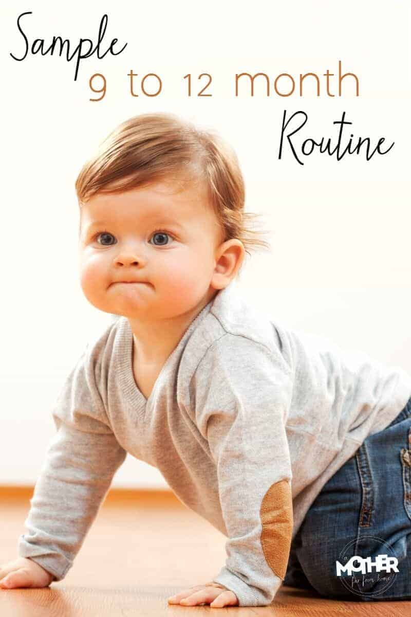 9-12 month old baby crawling