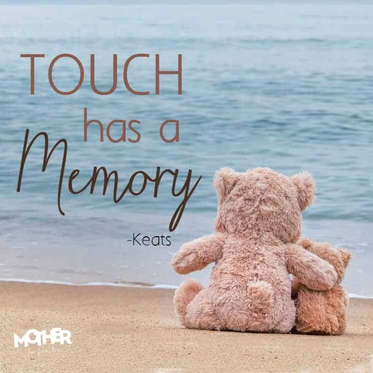 touch has a memory-keats