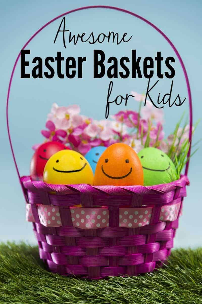 Awesome Easter baskets for toddlers and preschoolers for their Easter Egg Hunts