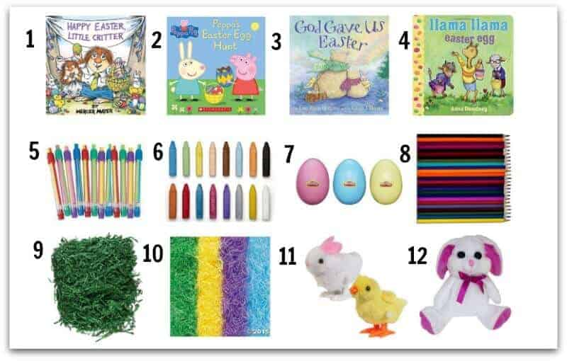 Easter Basket Fillers, this is what to put in an easter basket for your toddler, preschooler or small child