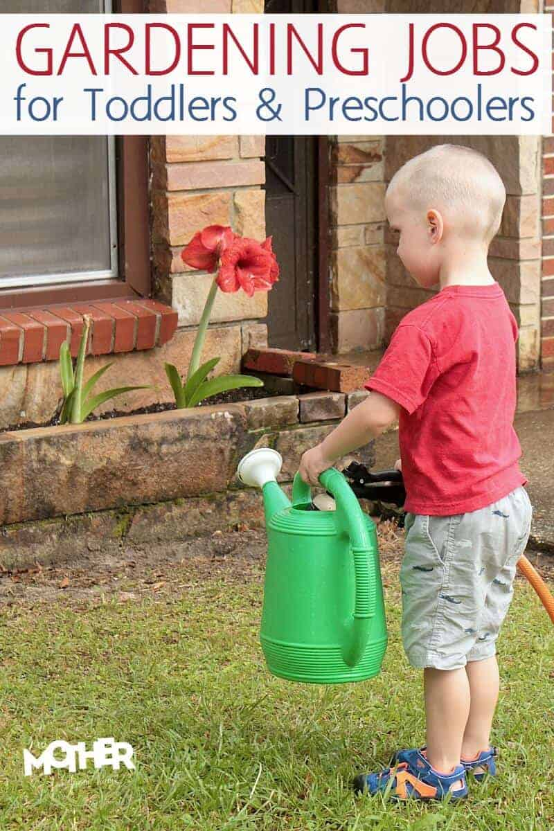 Want to get your kids involved outdoors in the garden? Here are some gardening tasks that even toddlers and preschoolers can do.