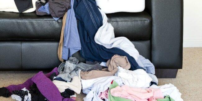 pile of unfolded laundry