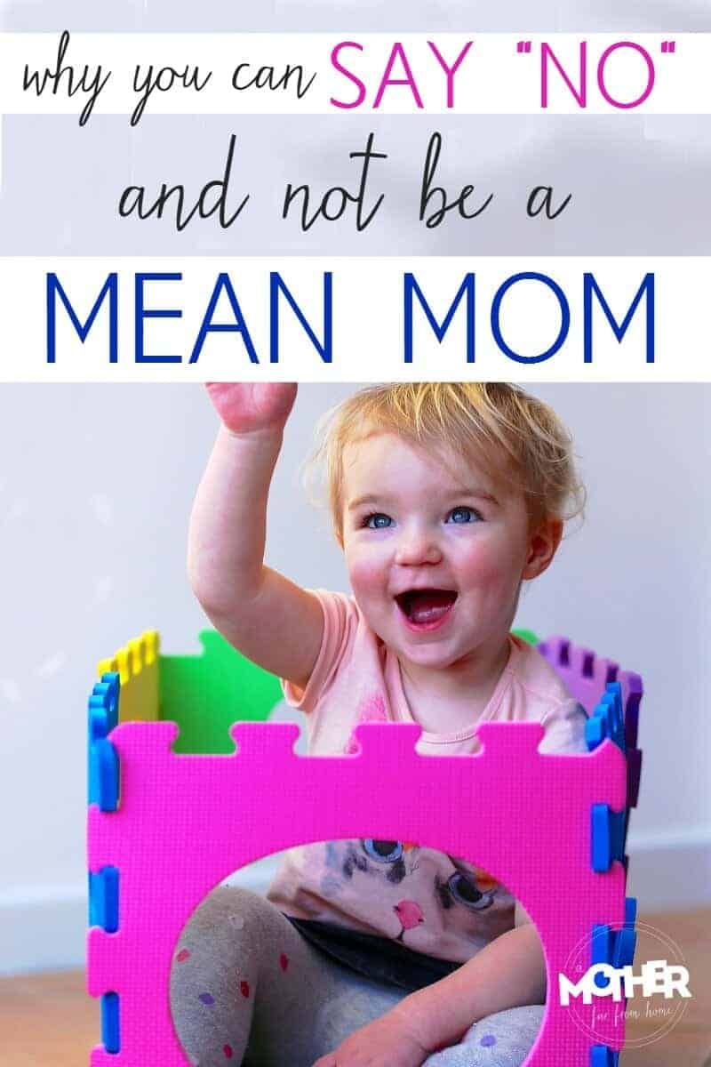 No one wants to be the mother who says