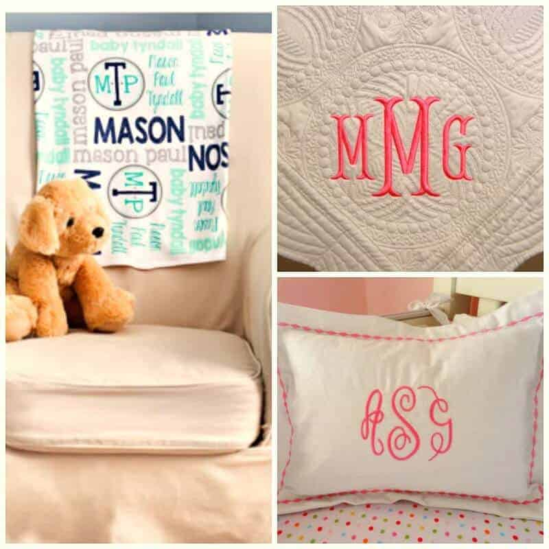 baby monogram items