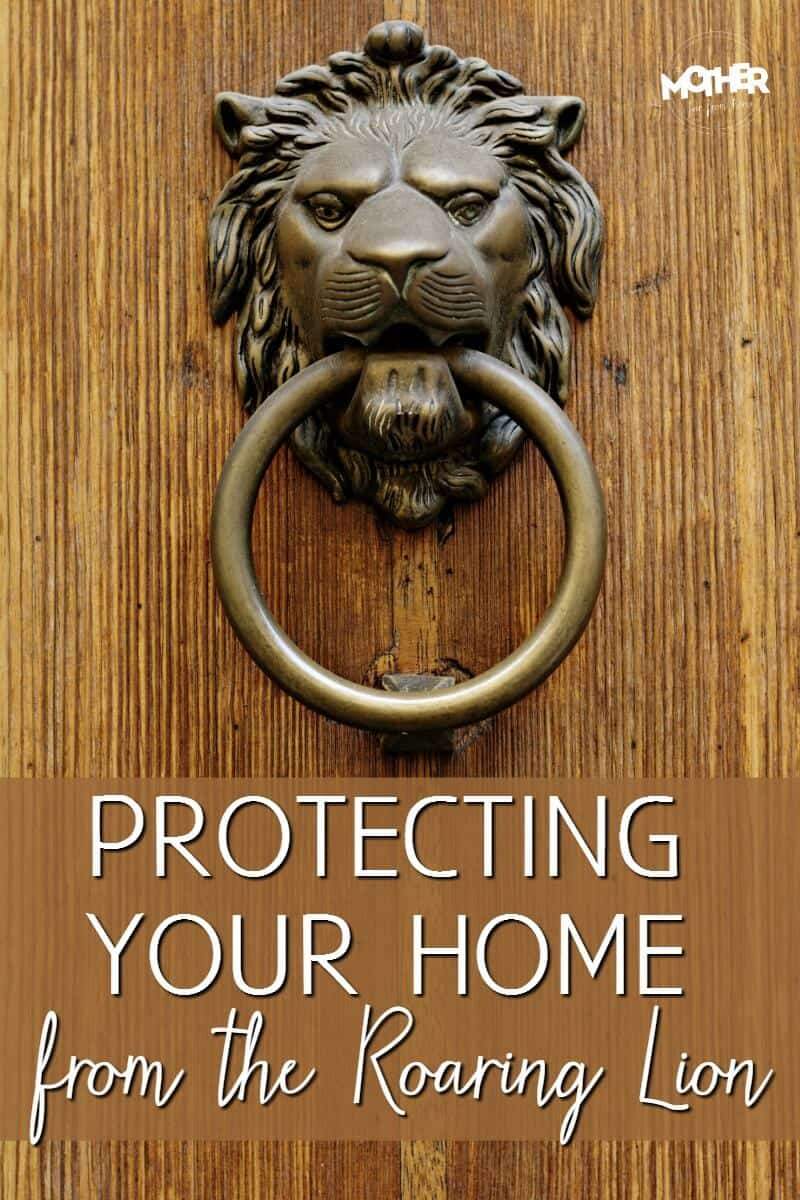 protecting your home from the roaring lion pin