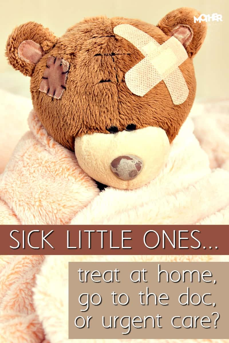 Great read for mothers of babies, toddlers, and preschoolers in knowing whether to stay at home, go to the doctor, or go straight to urgent care.