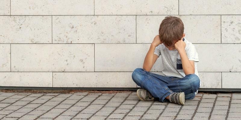 little boy fearing failure