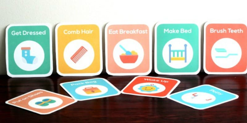 printable routine cards for toddlers and preschoolers