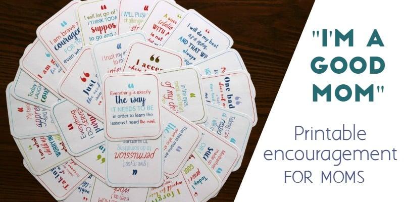 printable affirmation cards for moms