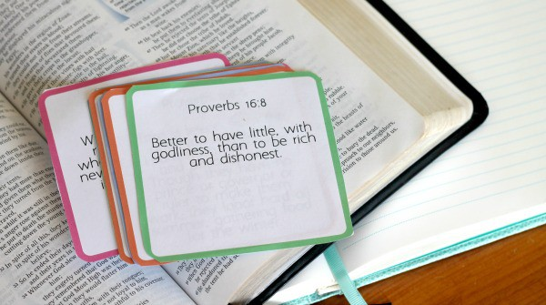 printable financial encouragement scripture cards